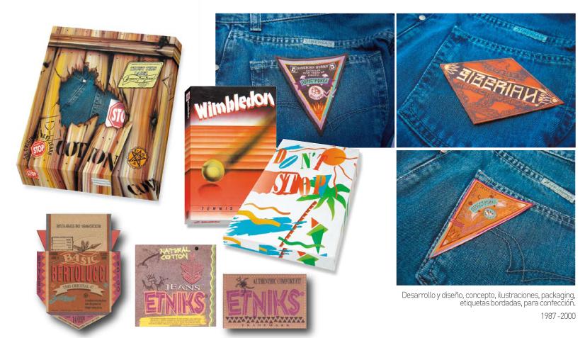 Jeans Brand Packagings Labels